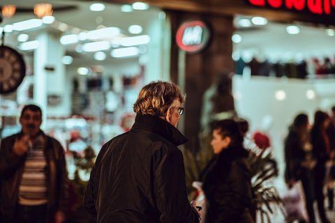 People, Photograph, Snapshot, Street, Night, Urban area, Human, Pedestrian, Crowd, Fun,