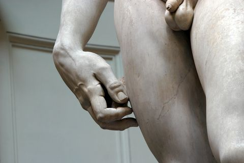 David Statue Groin and legs by Michelangelo