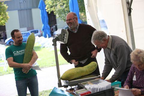 David Thomas at weigh in at Malvern Autumn Show