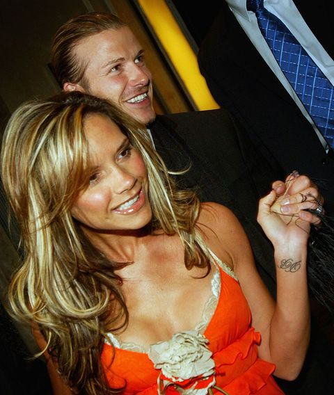 london   april 12  real madrid soccer player david beckham and his wife, victoria beckham, leave claridges hotel april 12, 2004 in london, england  photo by bruno vincentgetty images