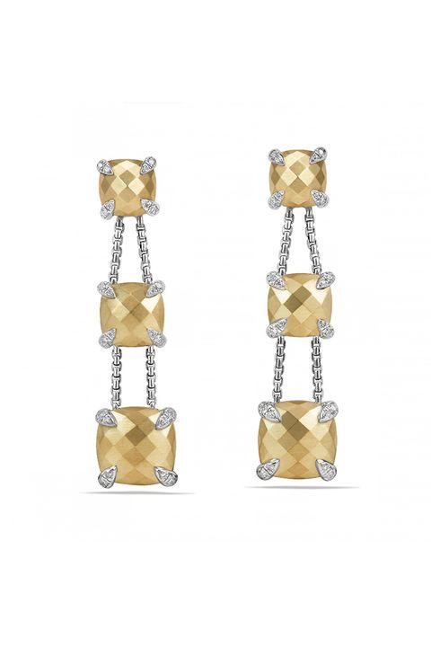 Earrings, Jewellery, Fashion accessory, Yellow, Beige, Metal, Gemstone,