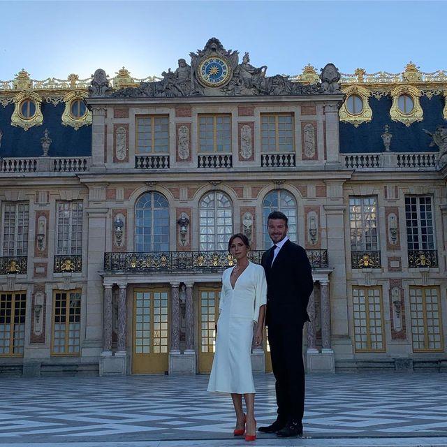 David y Victoria Beckham en Versailles