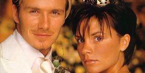 David y Victoria Beckham en su boda