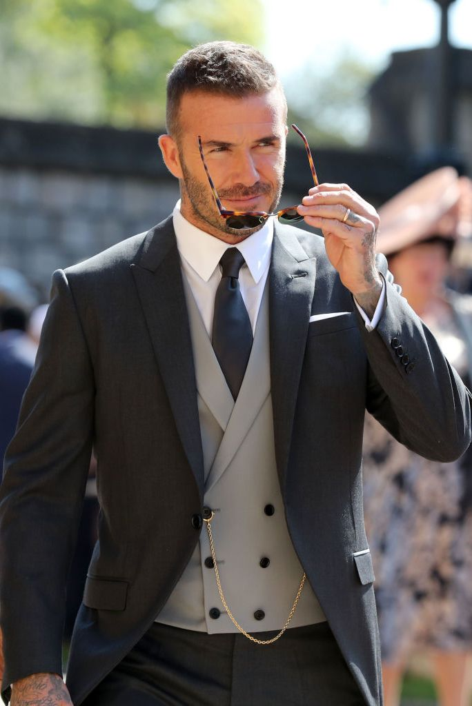 David Beckham looking dapper at the royal wedding.