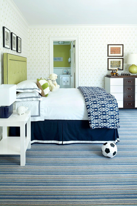 Green Bedrooms. Marili Forastieri. Lime Accents