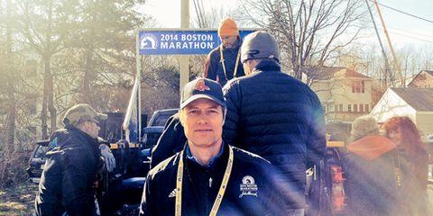 David Willey Press Truck Boston Marathon