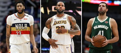 Lakers antohony davis lebron james nikola mirotic