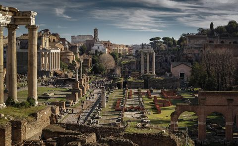 Ruins, Ancient history, Ancient roman architecture, Building, Sky, Archaeological site, Architecture, Human settlement, History, Historic site,