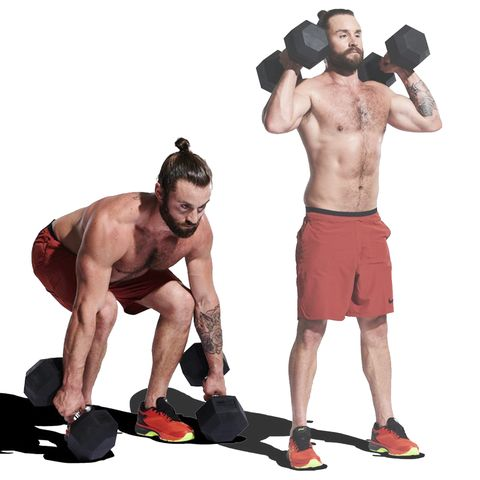Weights, Exercise equipment, Kettlebell, Dumbbell, Arm, Muscle, Sports equipment, Shoulder, Standing, Physical fitness,