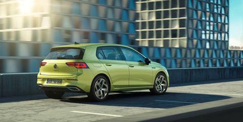 2020 Volkswagen Golf Mk8 rear 3-4 on road