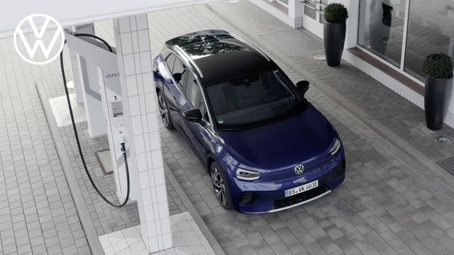 2021 volkswagen id4 at charging station