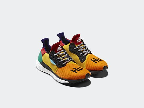 Footwear, Shoe, Orange, Yellow, Outdoor shoe, Sportswear, Climbing shoe, Athletic shoe, Sneakers, Running shoe,