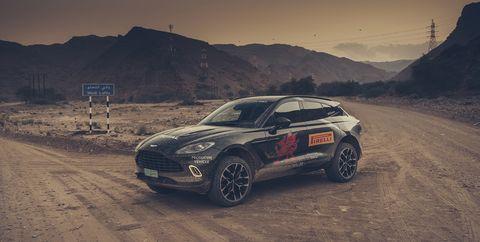 Aston Martin DBX prototype drive
