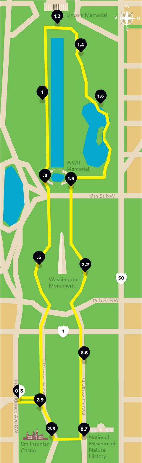 where to run the national mall monuments runner s world