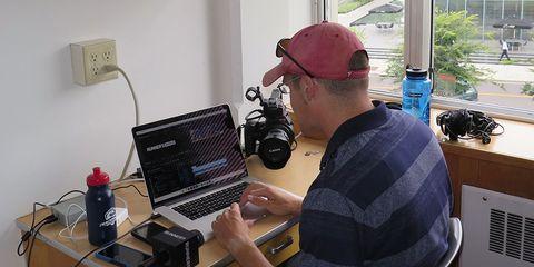 Derek Call working