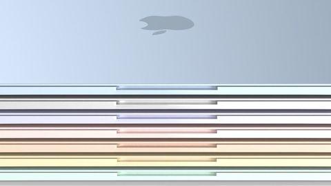 綠黃紅藍的i mac