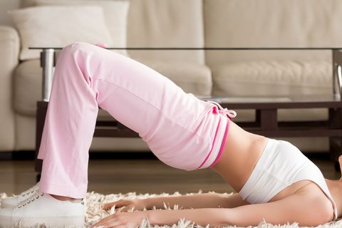 Pink, Leg, Physical fitness, Thigh, Knee, Joint, Human leg, Arm, Abdomen, Stomach,