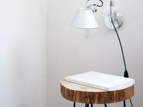 White, Product, Lamp, Lampshade, Light fixture, Lighting, Lighting accessory, Table, Furniture, Wall,