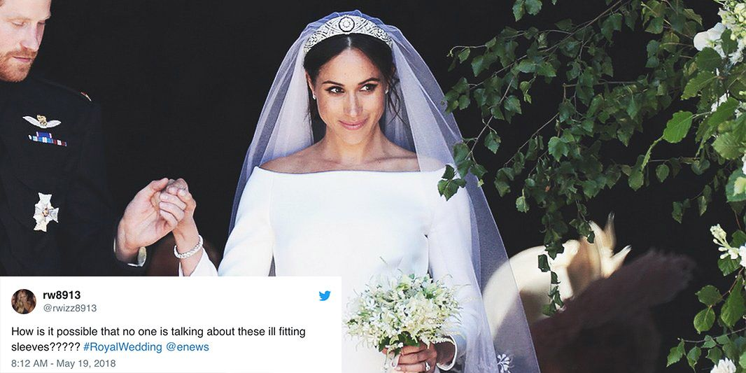 Twitter Doesn T Love Meghan Markle S Dress Twitter Is Calling Meghan Markle S Wedding Gown Ill Fitting And Boring
