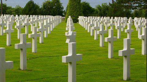 Begraafplaats Normandië slachtoffers Tweede Wereldoorlog