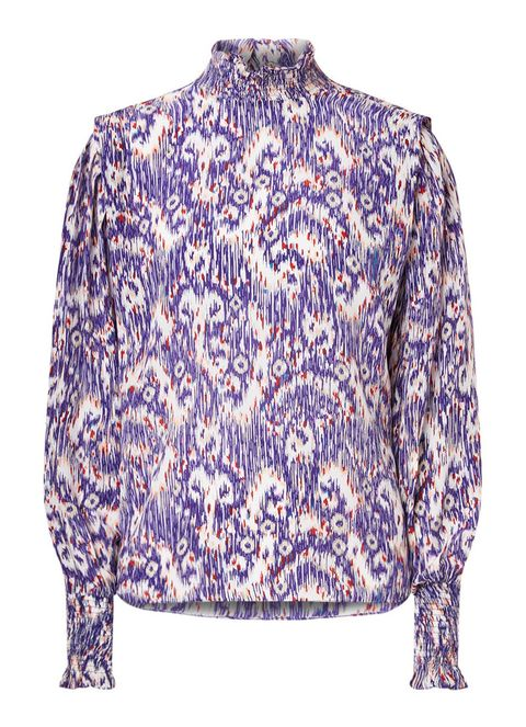 Clothing, Sleeve, Blue, Outerwear, Shirt, Violet, Purple, Blouse, Top, Lavender,