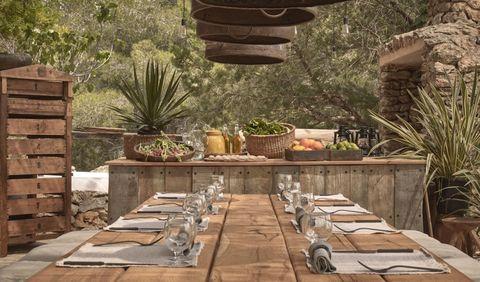 Property, Backyard, Wall, Table, Room, Interior design, Furniture, Landscaping, Yard, Landscape,
