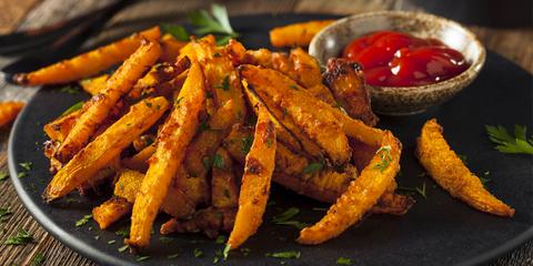 De ultieme herfstsnack: vezelrijke frietjes van pompoen