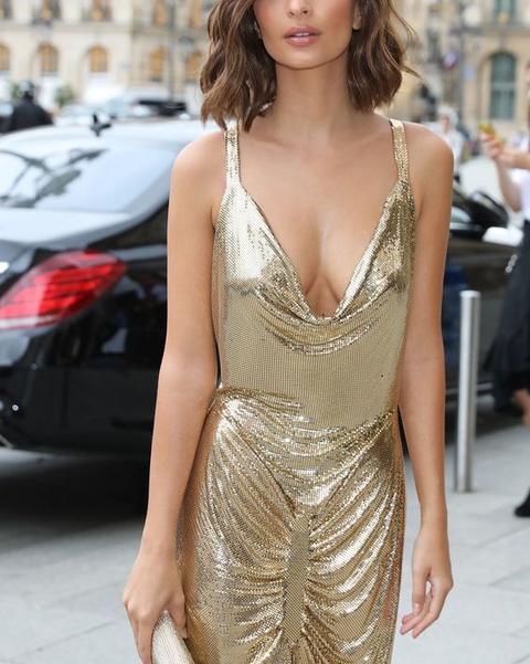 金色亮片長洋裝