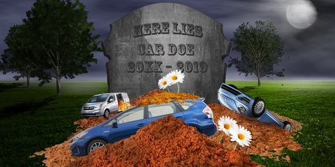 Cars dead for or in 2019