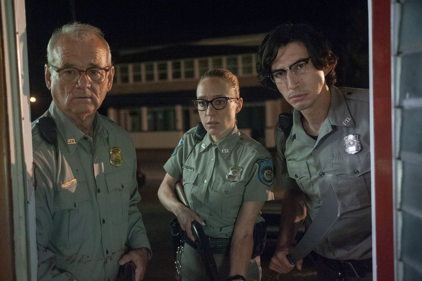 Bill Murray, Chloe Sevigny, and Adam Driver in The Dead Don't Die
