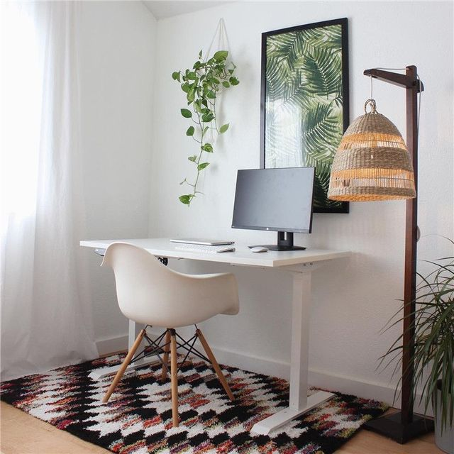 a home office scene