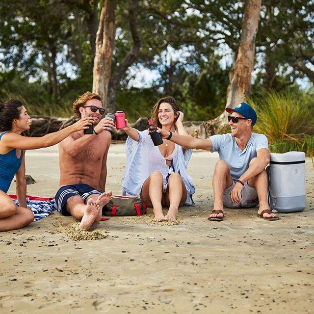 a group on a beach