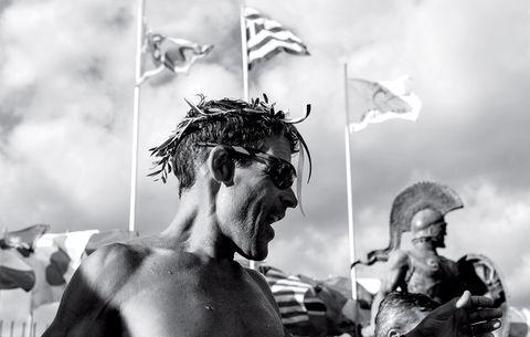 Dean Karnazes You Don't Know Pheidippides wreath on head
