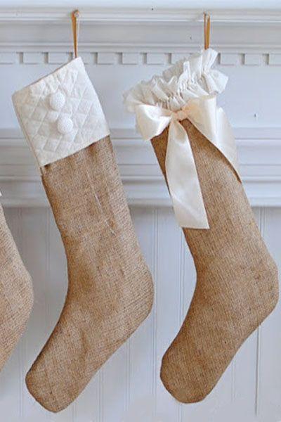 DIY Christmas Stockings Burlap Stockings