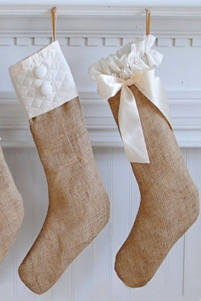 DIY Christmas Stockings Burlap Stockings