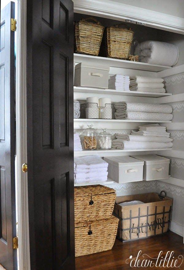 Baskets   Linen Closet Organization