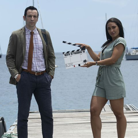 ralf little and josephine jobert filming death in paradise season 10
