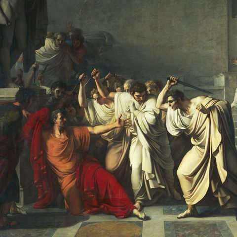 Death of Julius Caesar, 1805-1806, by Vincenzo Camuccini (1771-1844), oil on canvas, 400x707 cm, Detail