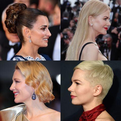 Hair, Hairstyle, Face, Blond, Chin, Beauty, Long hair, Eyebrow, Ear, Chignon,