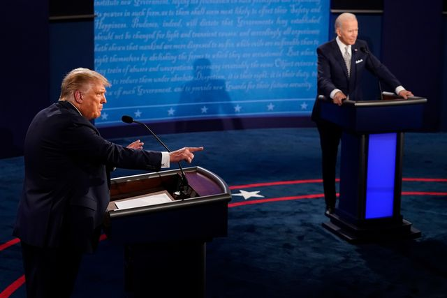 cleveland, ohio   september 29  us president donald trump speaks during the first presidential debate against former vice president and democratic presidential nominee joe biden at the health education campus of case western reserve university on september 29, 2020 in cleveland, ohio this is the first of three planned debates between the two candidates in the lead up to the election on november 3 photo by morry gash poolgetty images