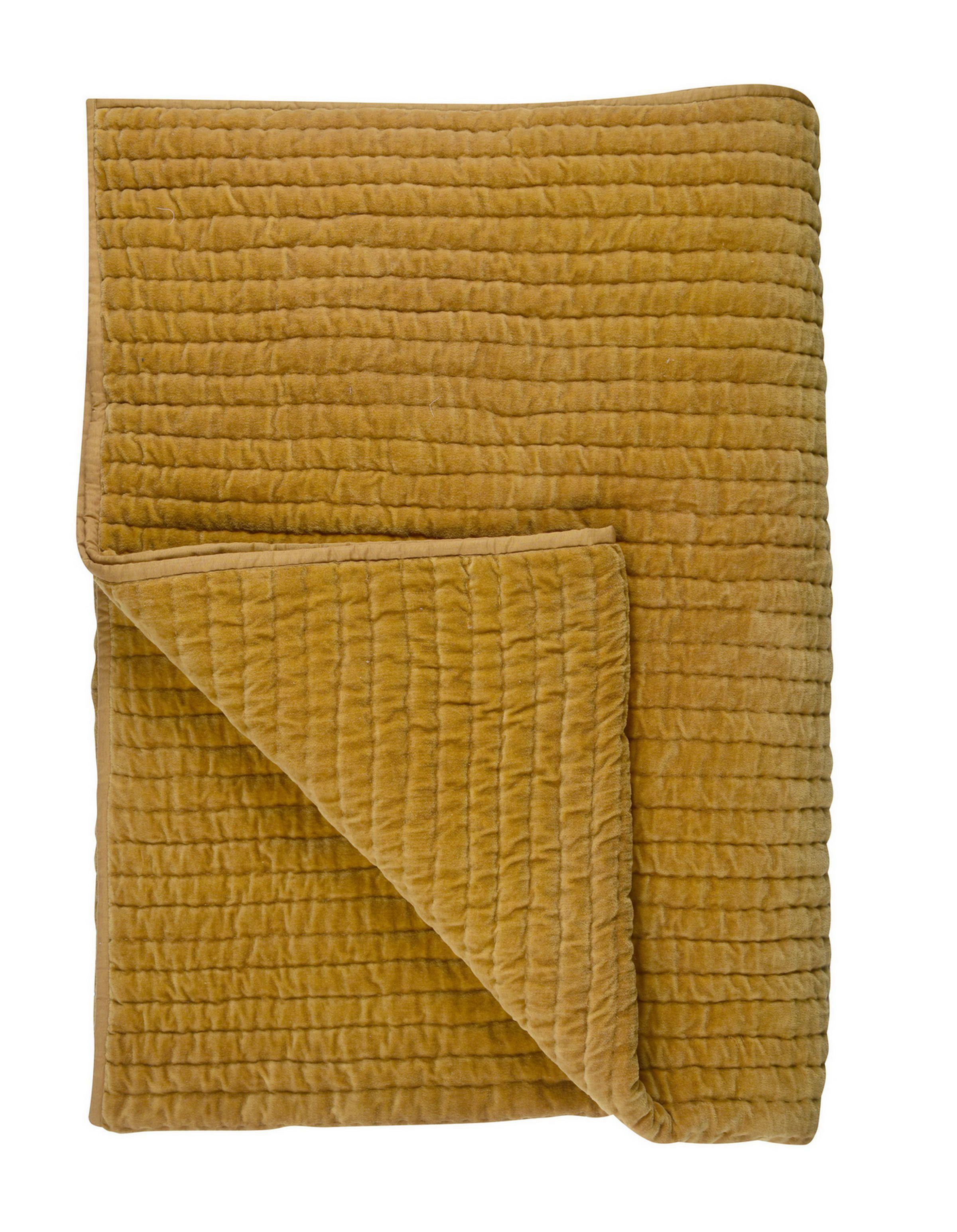 Bronte par Lune Pure New Wool Herringbone Orange Throw Blanket