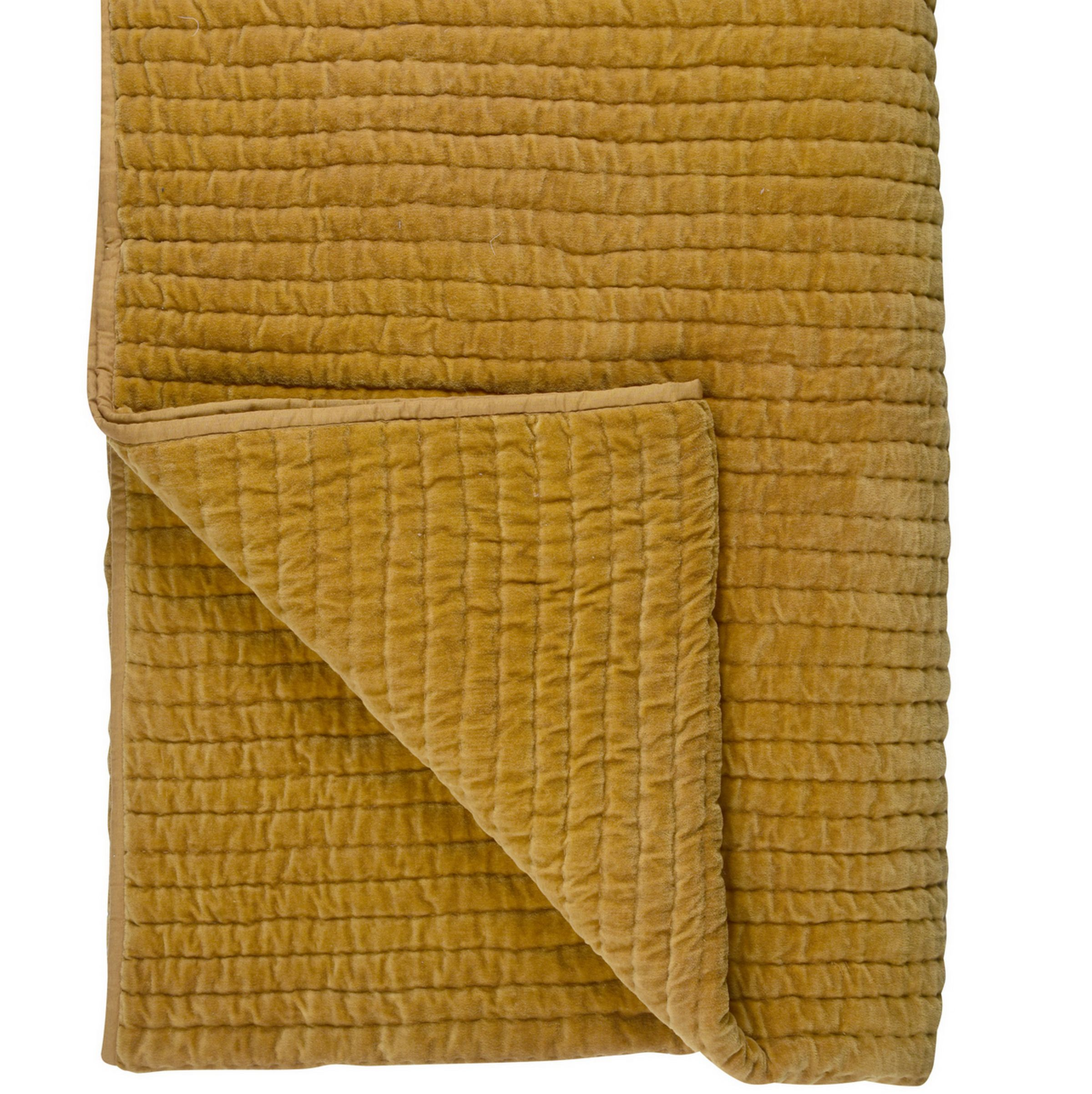 Debenhams J by Jasper Conran Gold Chevron Velvet Throw
