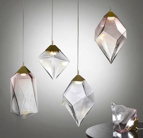 Debenhams Lighting Crystal Shaped Prism Light Collection