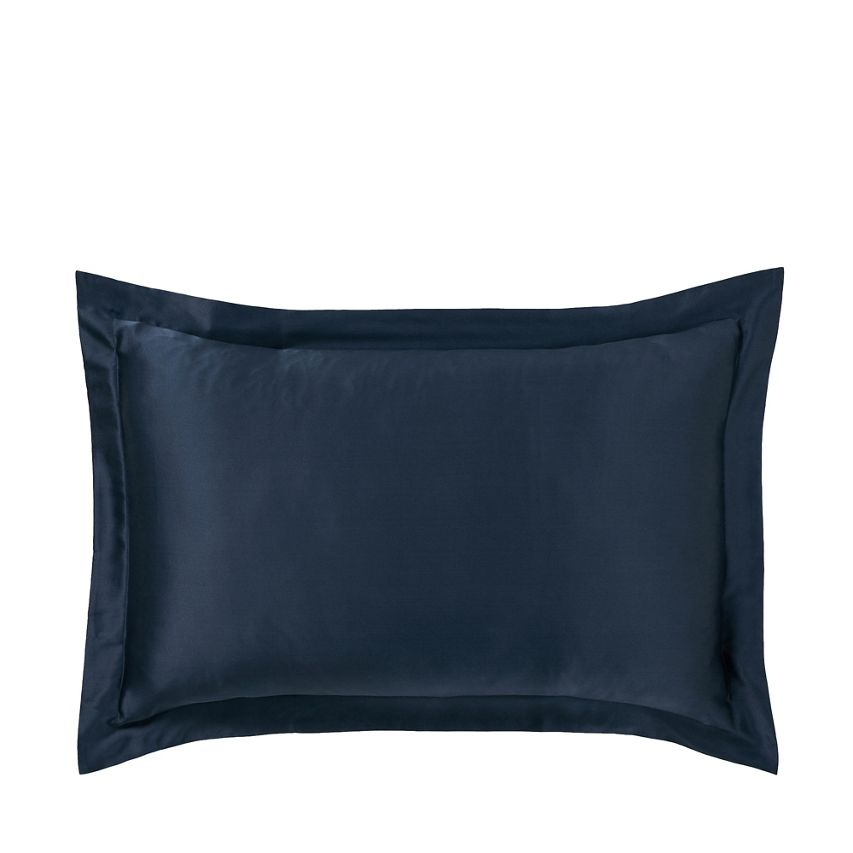 Debenhams silk navy cushion