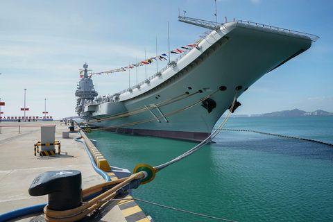 china hainan sanya shandong aircraft carrier cn