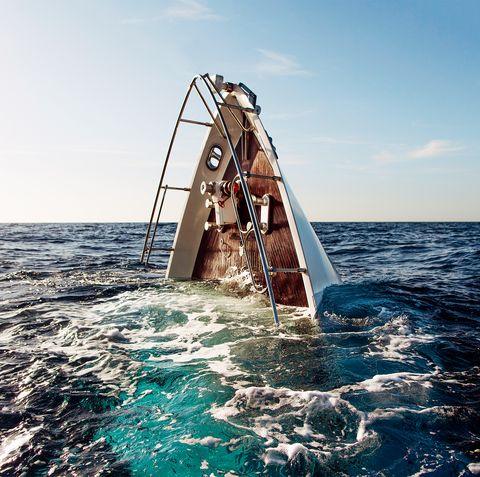 sea, ocean, sky, vehicle, boat, wave, watercraft, horizon, leisure, vacation,