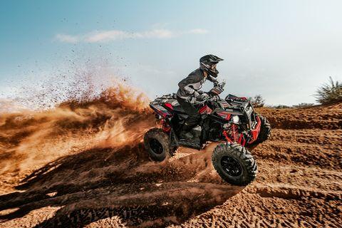 Land vehicle, All-terrain vehicle, Vehicle, Sports, Off-roading, Off-road racing, Motorsport, Soil, Extreme sport, Off-road vehicle,