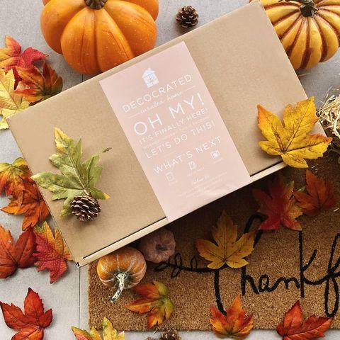 Decocrated Fall Home Decor Subscription Box