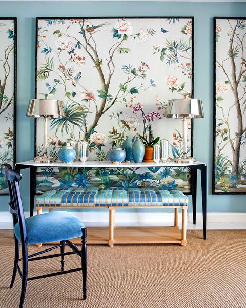 efectos con papel pintado para decorar las paredes