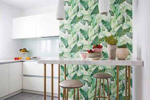 ideas originales para las paredes con papel pintado